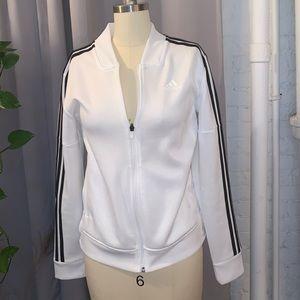 Adidas White Snap Sports Jacket size S